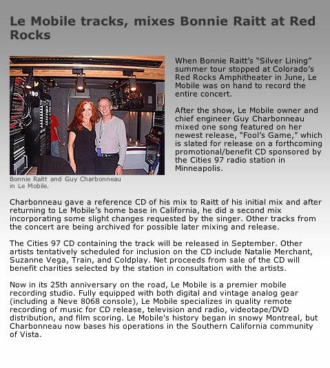 Bonnie Raitt article